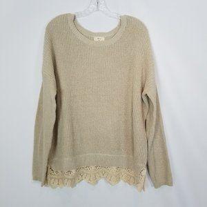 Pins & Needles Women's Ivory Sweater Sz Medium